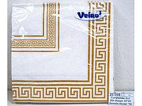 Салфетки сервировочные 33*33 Veiro Эллада белая, 20 штук в пачке