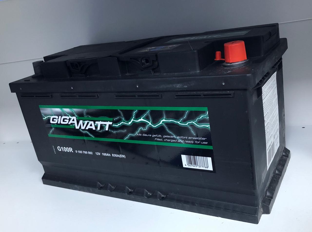 Аккумулятор автомобильный GIGAWATT 100 Ah 600 402 083