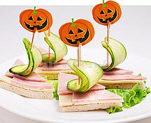 Деревянные декоративные зубочистки  для еды на Хэллоуин