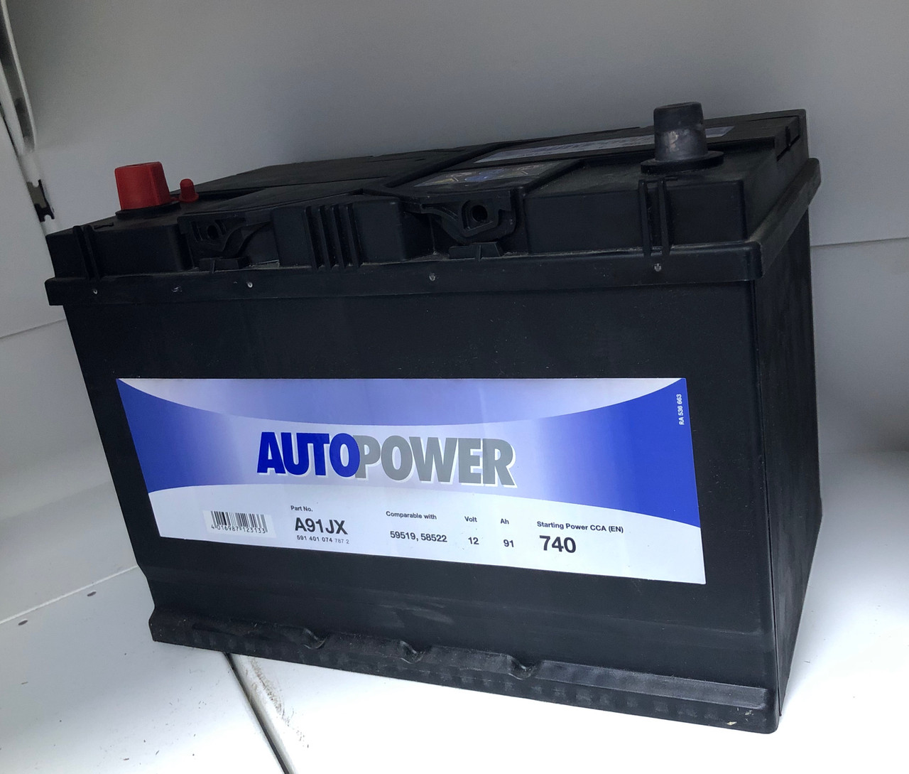 Аккумулятор для автомобиля AUTOPOWER 91 Ah 591 400 074