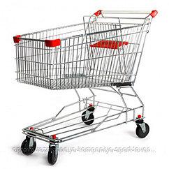 Тележка покупательская STA100-BX Standard c детским сиденьем красная (850х510х940 мм,100л,колеса 100 и 125 мм.