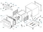 Печь конвекционная PIRON PF5804 (4 противня 442х325, 2,8 кВт, 550x600x540) духовка нерж., фото 2