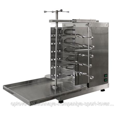 Шаурма-шашлычница электрическая ШШЭ-2 (515х770х670(690), с ручным приводом, 5 шампуров,4кВт, 220В)