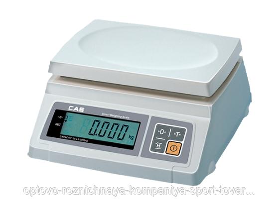 Весы электронные CAS SW I-20, (260х287х119мм, платф.241х192мм, масса 3,2кг)