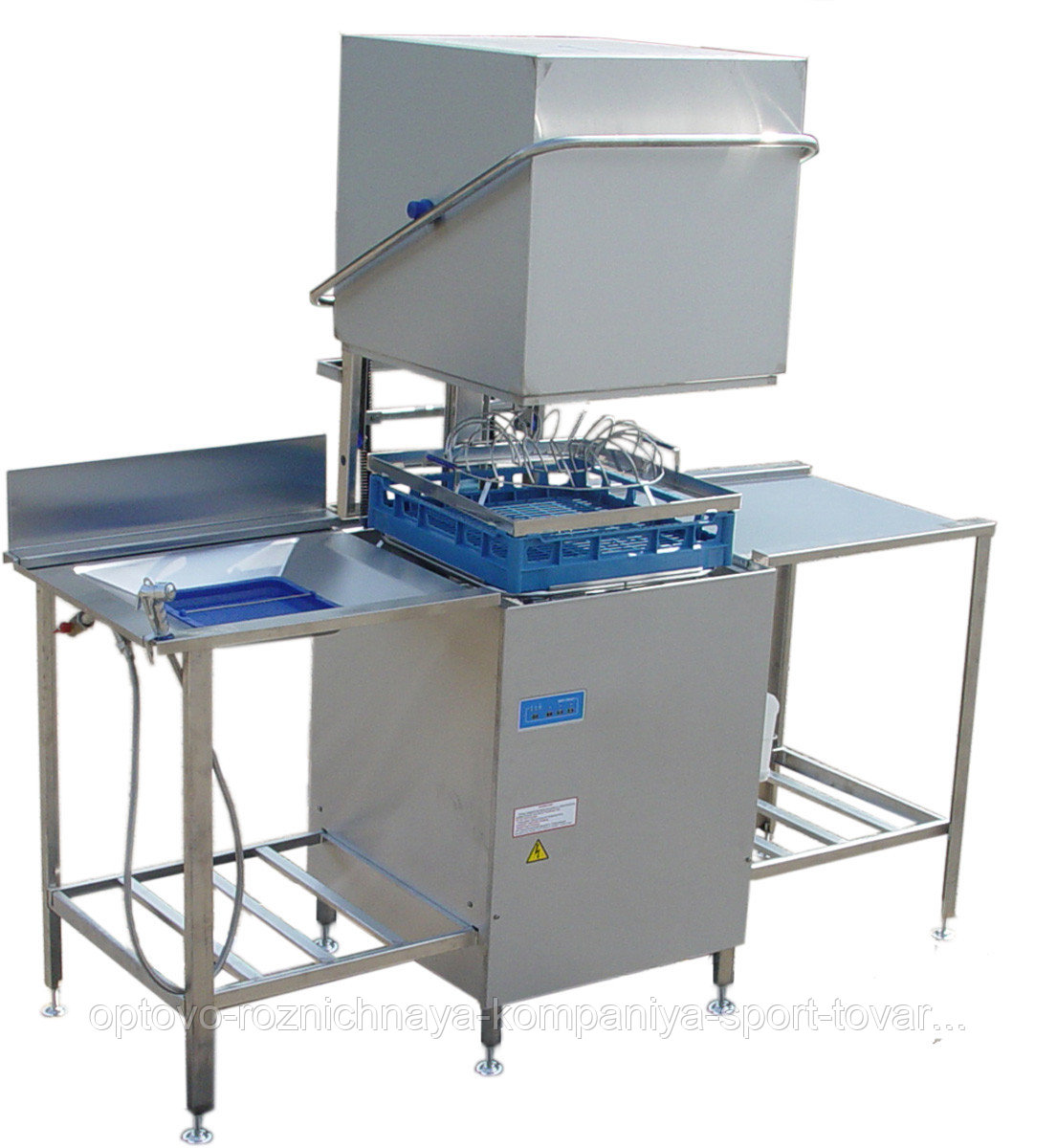 Машина посудомоечная купольная МПУ-700-01 (в комплекте со столом загрузки и столом разгрузки) (1860x800x1400мм