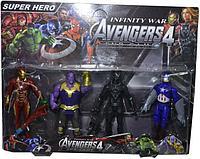 "JM89804 Avengers 4 ""End Game"" Мстители ""Финал"" герои 4 шт на картонке 42*33см"