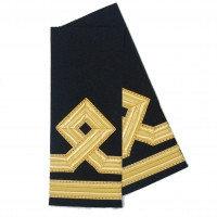 ПОГОНЫ IMG GOLD МОРСКОЙ 2 ПОЛОСЫ С РОМБОМ / ЧЕРНЫЙ