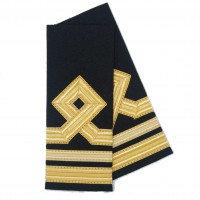ПОГОНЫ IMG GOLD МОРСКОЙ 2 СРЕДН.,1УЗК. ПОЛОСЫ С РОМБОМ