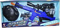 Упаковка помята!!! S019 Полицейский набор с каской и винтовкой Justice Force 72*32см, фото 1