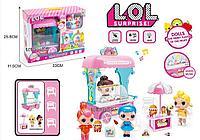 121-LOL Ice Cream Cart ЛОЛ Лавка мороженного 2 куклы 34*26см, фото 1