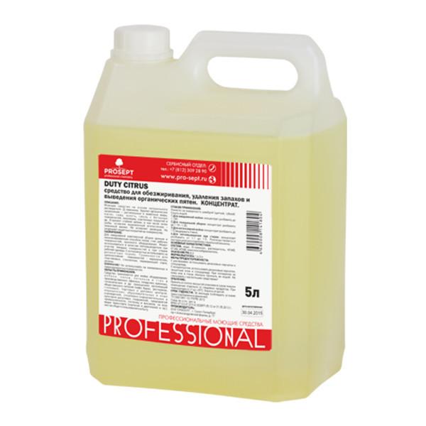 Средство для обезжиривания поверхностей удаления запахов 121-5 Duty Citrus Конц.(1:1 - 1:100) 5 л.