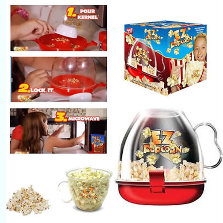 Чаша для приготовления попкорна в микроволновке EZ PopCorn