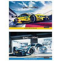 """Альбом для рисования 20л., А4, на скрепке ArtSpace """"Авто. King of the ring"""""""