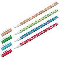 """Ручка шариковая Berlingo """"Funline. Flowers"""", синяя, 0,7мм, рисунок на корпусе, ассорти"""