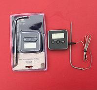 Кухонный электронный таймер-термометр от -50°C до +250°C с выносным стальным щупом, фото 1