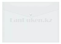 Папка конверт на кнопке А4 (прозрачная)