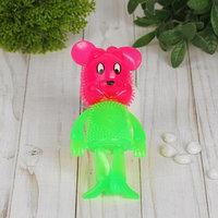 Ёжка 'Мышка', световой, с пищалкой, цвета МИКС (комплект из 12 шт.)