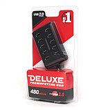 DELUXE DUH10001BK USB Расширитель 10 Портов, фото 3