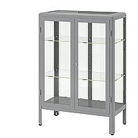 Шкаф-витрина ФАБРИКОР серый ИКЕА, IKEA, фото 1