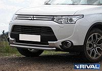Защита переднего бампера d57 Mitsubishi Outlander, 2014-2015