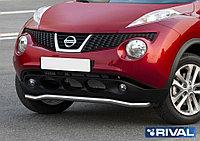 Защита переднего бампера d57 волна Nissan Juke, FWD, 2010-2014