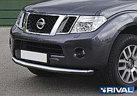 Защита переднего бампера d76 Nissan Pathfinder, 2010-2014