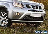 Защита переднего бампера d57 Nissan X-Trail, 2011-2015