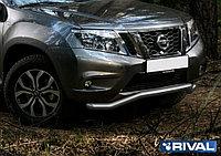Защита переднего бампера d57 волна Nissan Terrano, 2014-