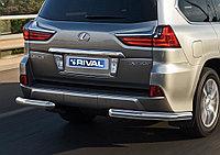 Защита заднего бампера d76 уголки Lexus LX, 2015-