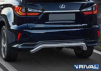 Защита заднего бампера d57 скоба Lexus RX, только для 450H, 2015-