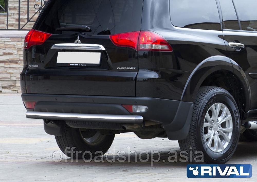 Защита заднего бампера d76 Mitsubishi Pajero Sport, 2008-2013-2016
