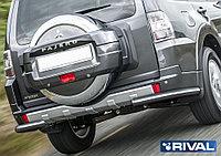 Защита заднего бампера d76 уголки Mitsubishi Pajero IV, 2011-2014-