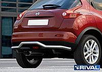 Защита заднего бампера d57 волна Nissan Juke, FWD, 2010-2014