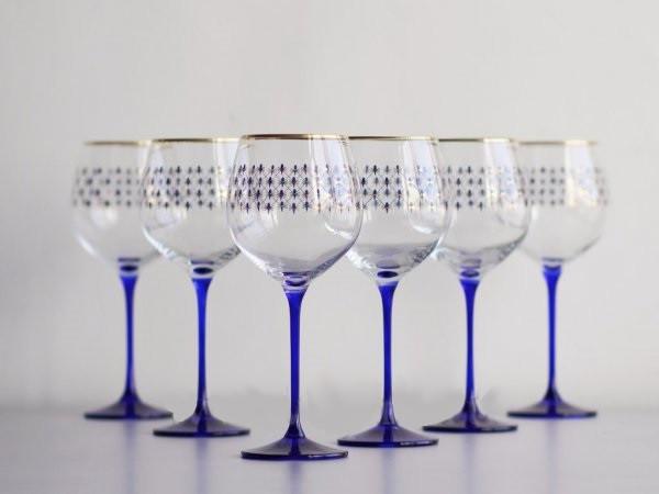 Набор из 6 бокалов для воды Кобальтовая сетка