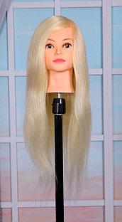 Голова-манекен блонд волос натуральный (85%) - 60 см