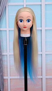 Голова-манекен (аниме) разноцветный волос искусственный - 60 см