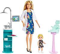 Игровой набор Barbie Барби Стоматолог Блондинка, фото 1