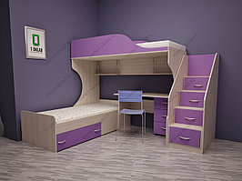 """Детская двухъярусная кровать """"ФРЕД"""""""