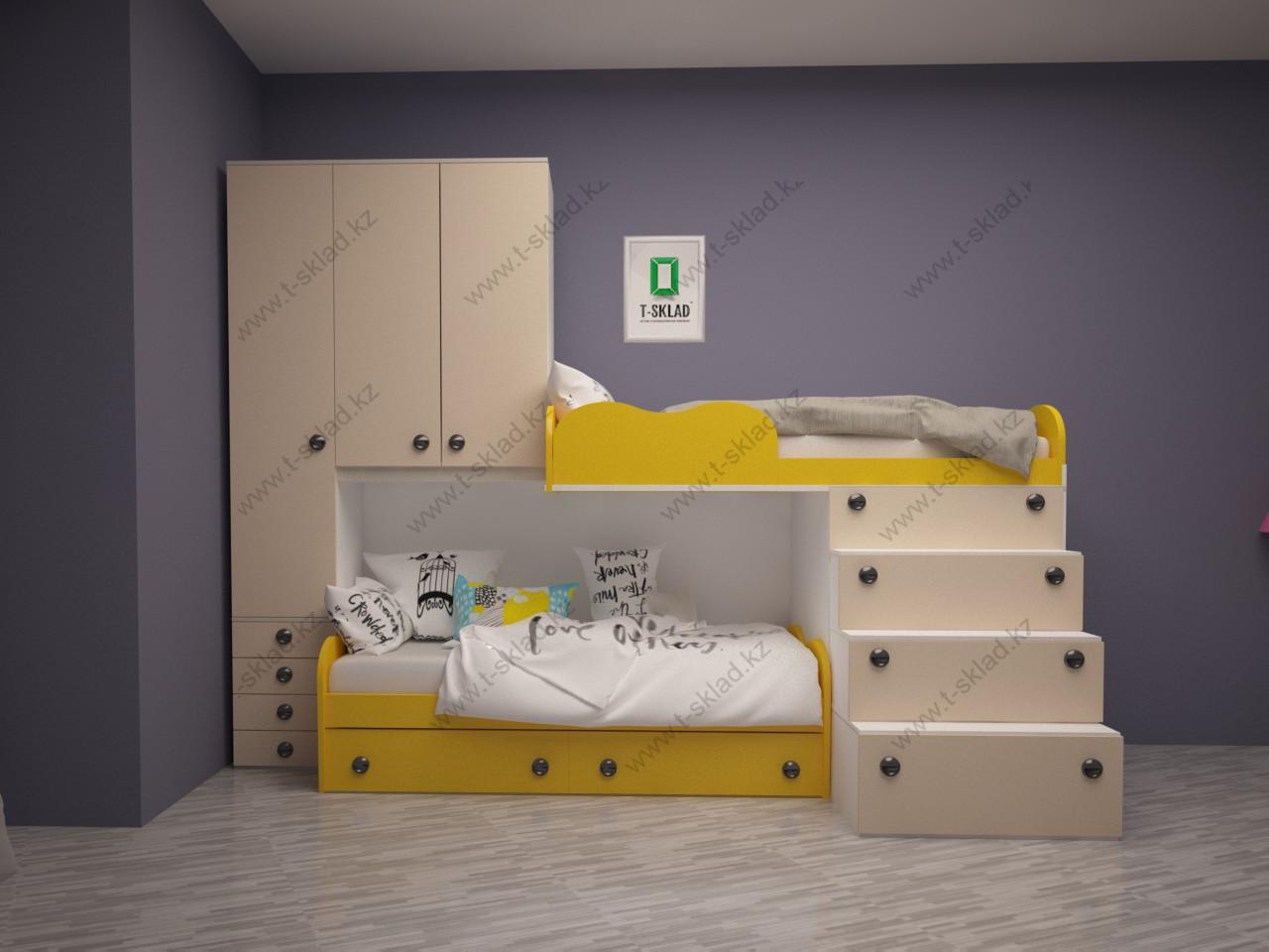 """Детская двухъярусная кровать """"Арт- Манго"""""""