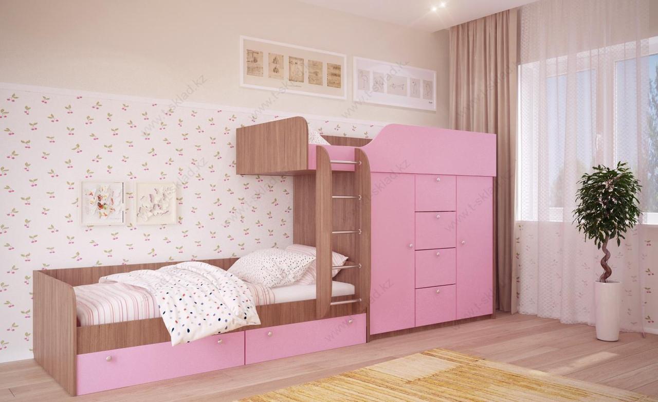 Двухъярусная кровать Вайолет 80