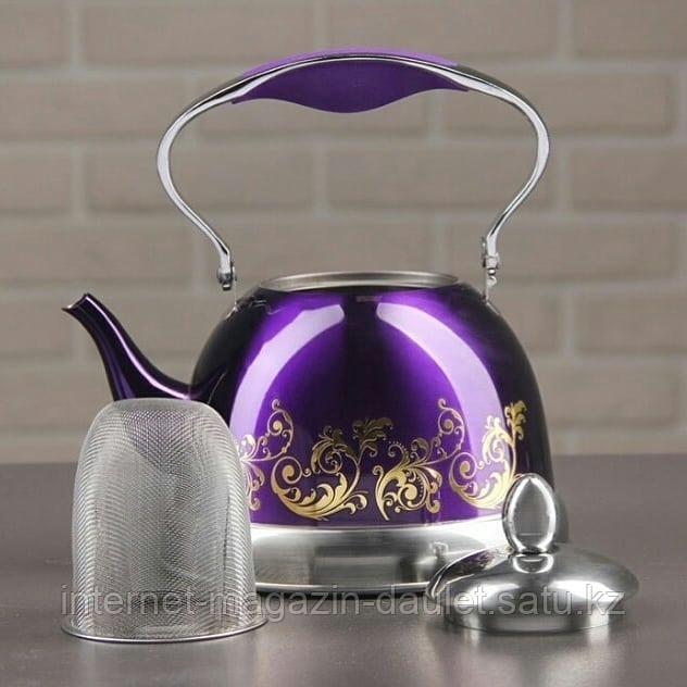 Заварочный чайник  1л, Фиалка