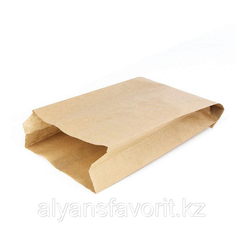 Пакет с плоским дном 140*60*250 мм, крафт.РФ