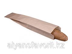 Пакет с плоским дном 110*50*610 мм, крафт.РФ