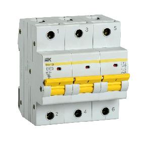 Выключатель автоматический BA 47-150 (3ф) 100А IEK