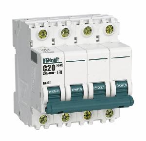Выключатель автоматический ВА 101 4P 16А 4,5кА С DEKraft