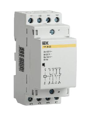 Контактор модульный КМ20-22 АС IEK , фото 2