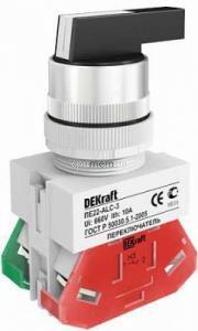 Переключатель ALC-3 ПЕ-22 мм на 3 положения DEKraft, фото 2
