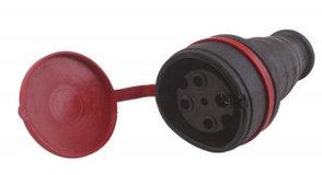 Штепсельный разъем с заглушкой 3Р+Е 3*32А 380В (каучук) 71 TENPO NEW (15)