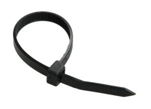 Хомут пластиковый 2,5х100 черные IEK (100)