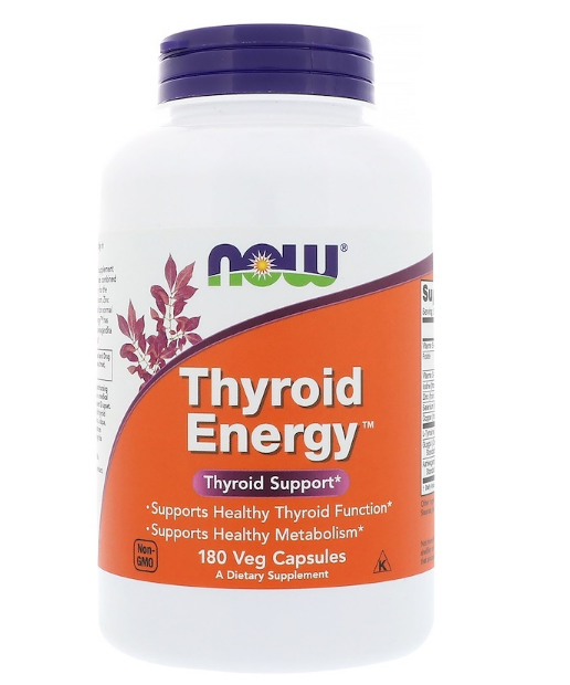 Now Foods, Thyroid Energy, 180 растительных капсул